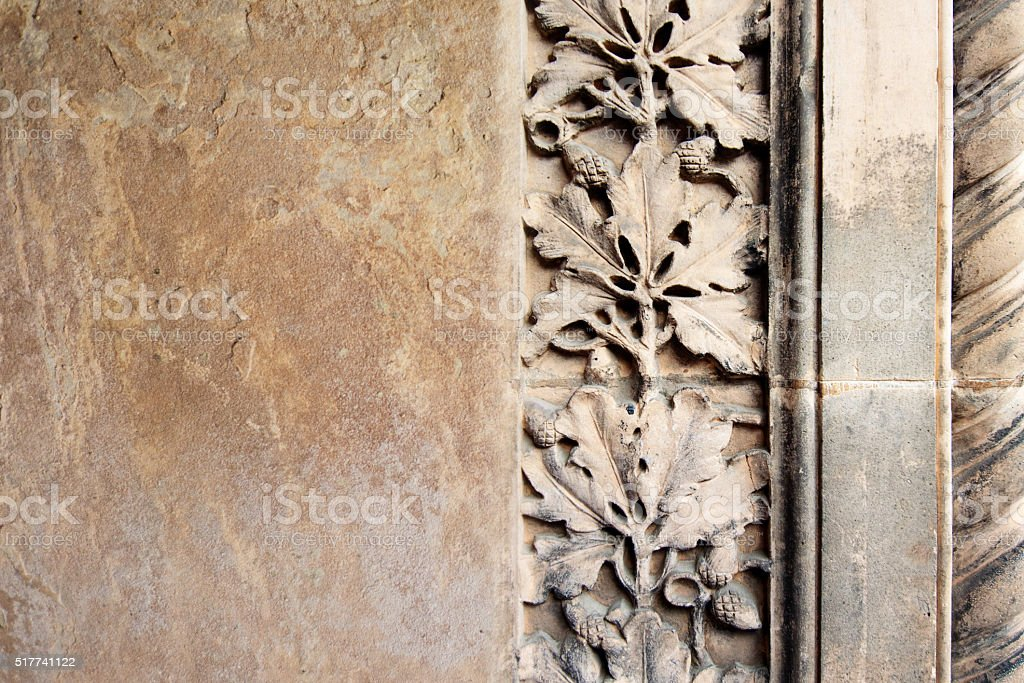 Architecture carved stone background stock photo