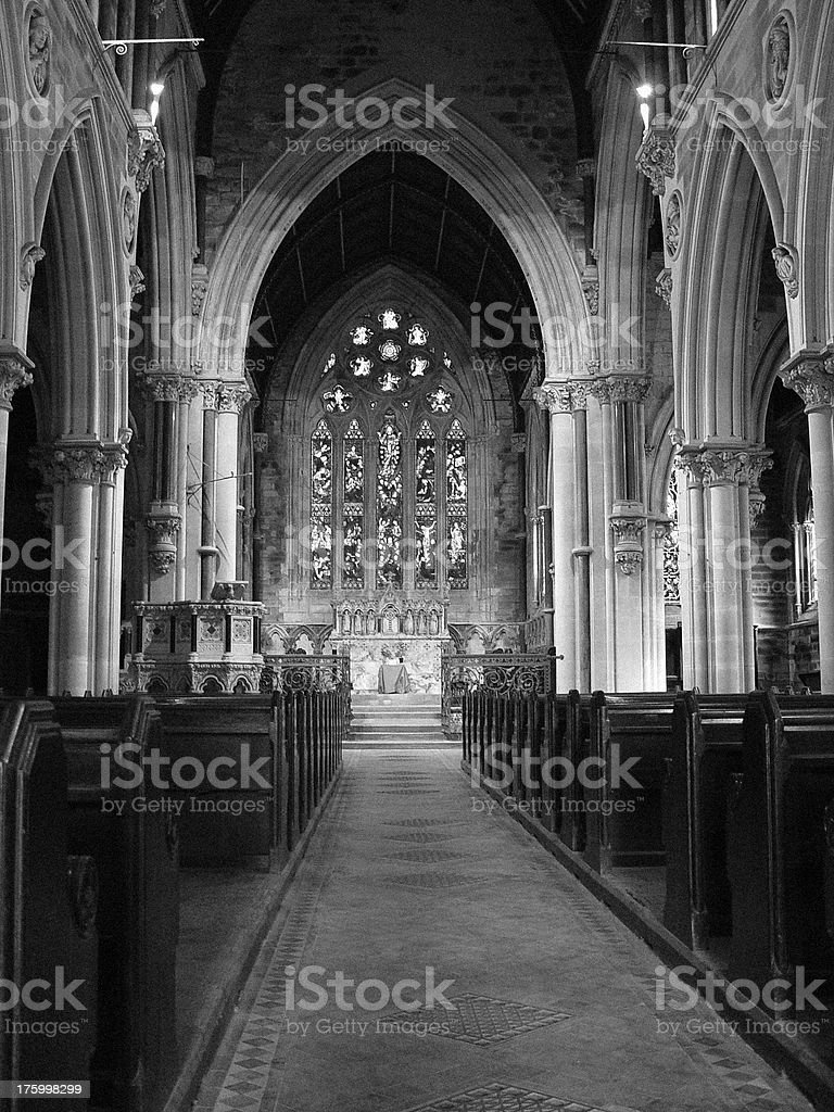 Architecture - Church Interior Dating from circa 1820 royalty-free stock photo