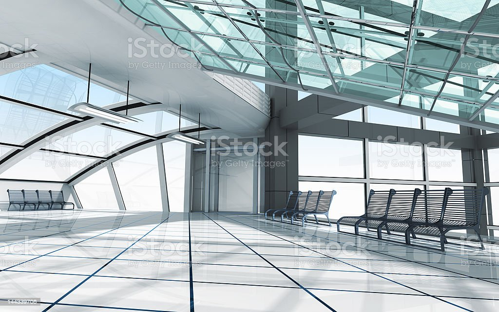 Architecture concept 3d render royalty-free stock photo