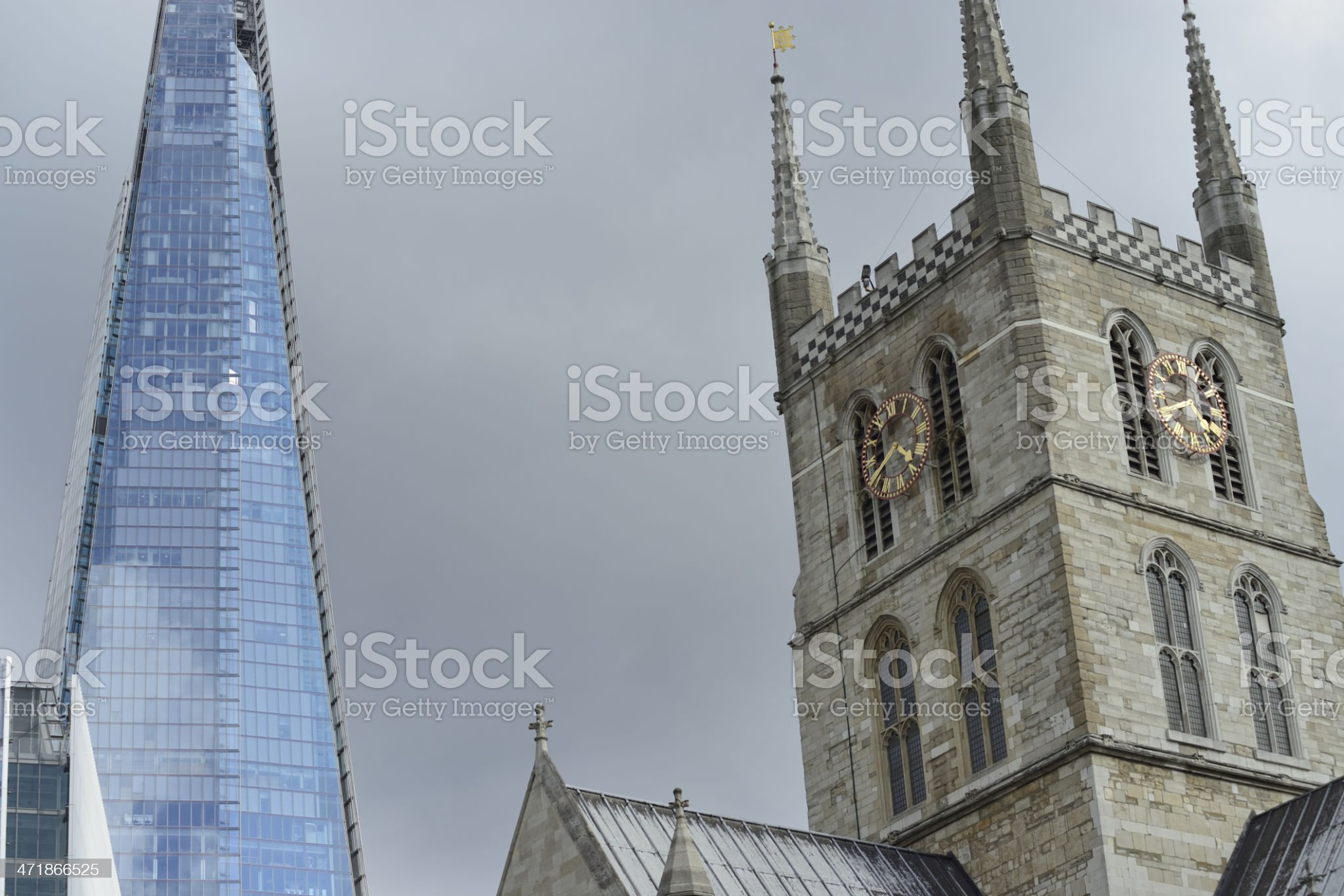 Architecture contrast royalty-free stock photo