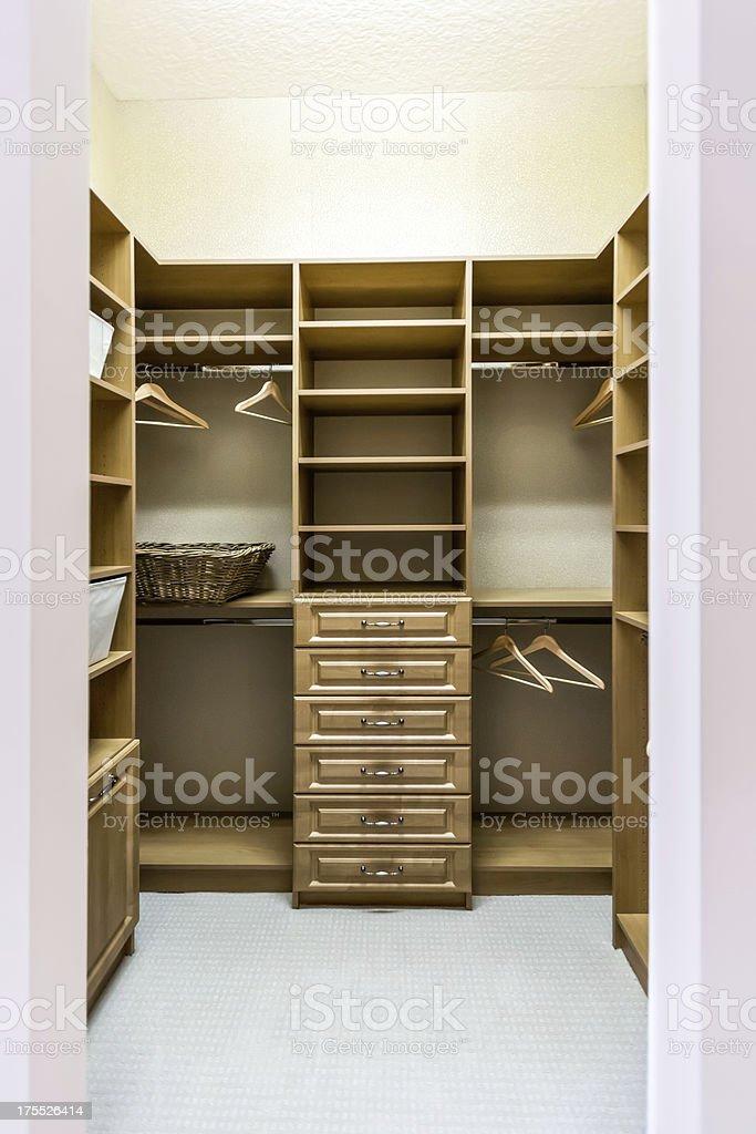 Architecture: Custom closet stock photo