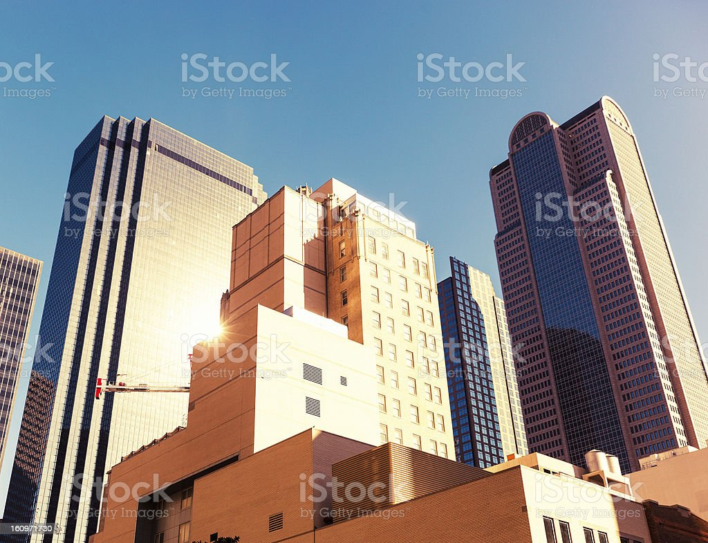 Architecture, Dallas Financial District royalty-free stock photo