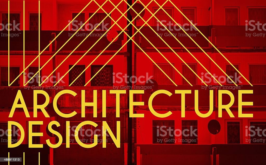 Architecture design, modern poster with house stock photo