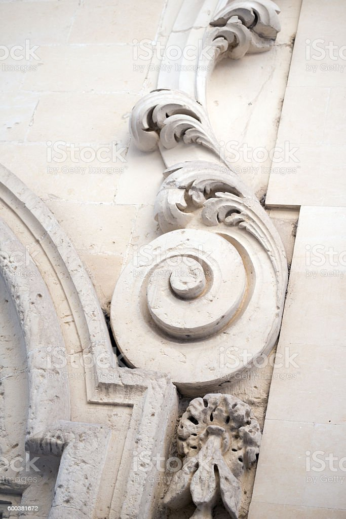 Architecture detail in Lecce, Italy stock photo