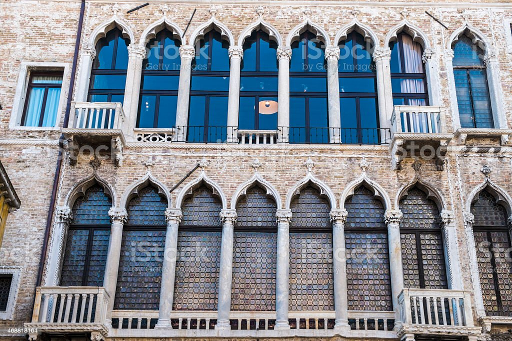 Architecture detail in Venice, Italy royalty-free stock photo