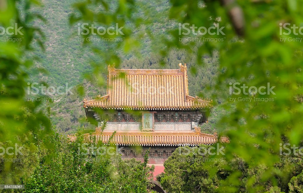 architecture detail of chinese traditional building stock photo