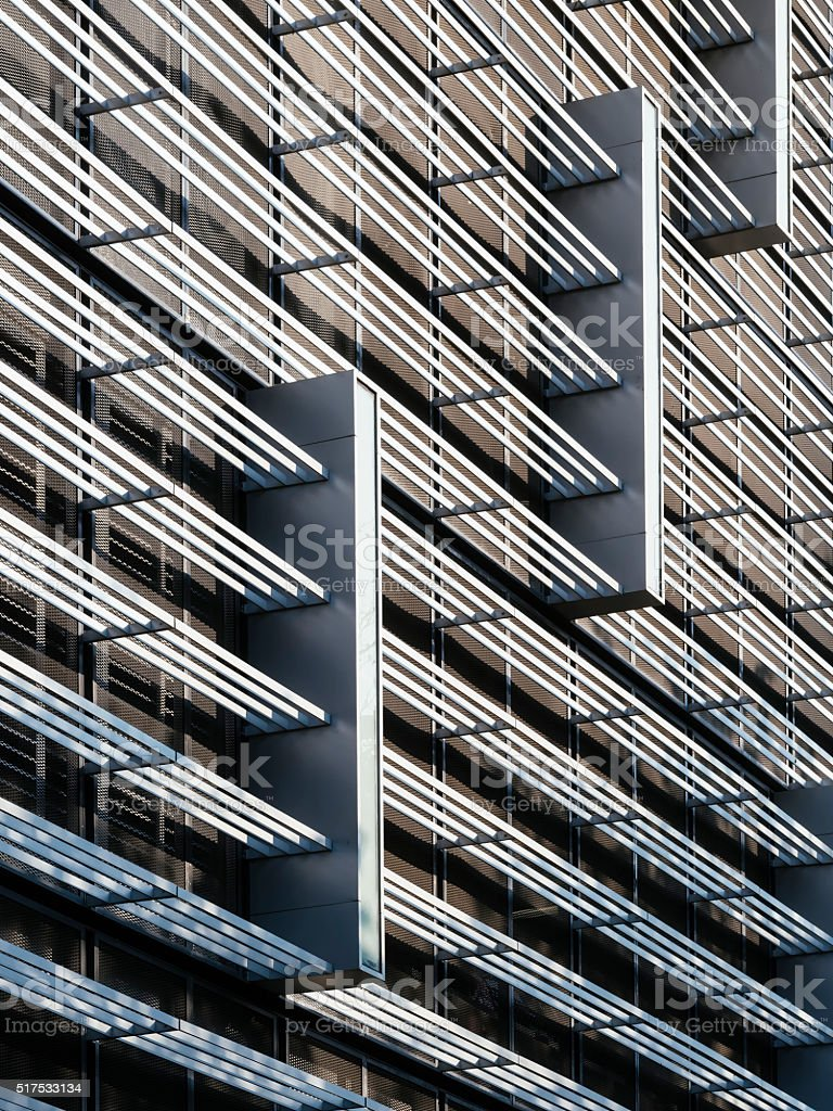 Architecture details modern Facade Design pattern structure stock photo