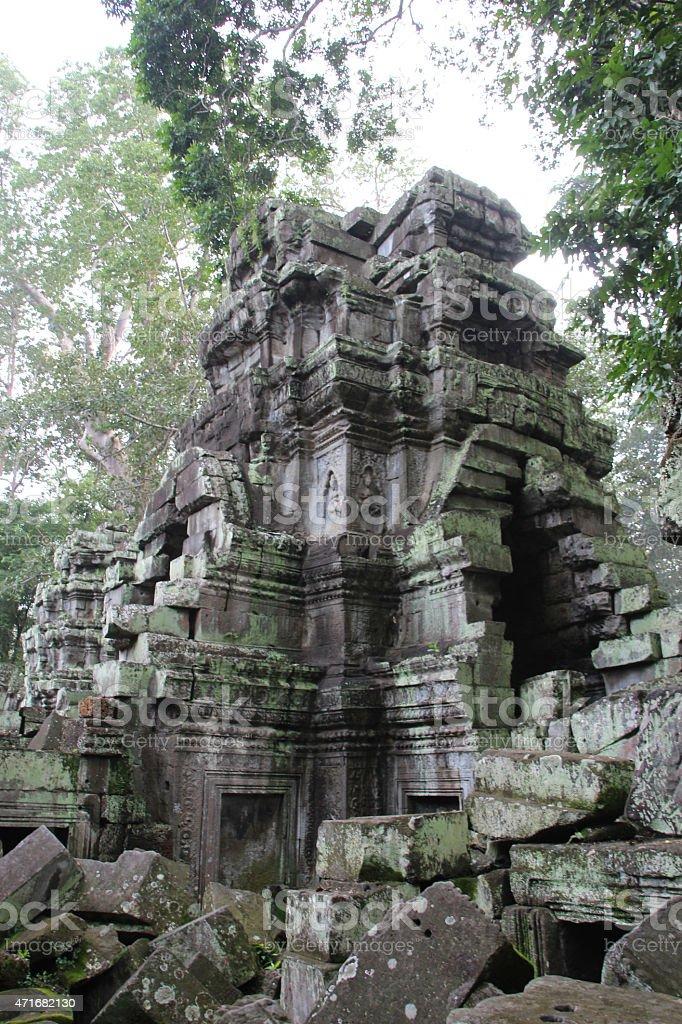 Arquitectura detalles de templo de Angkor Wat, Camboya foto de stock libre de derechos