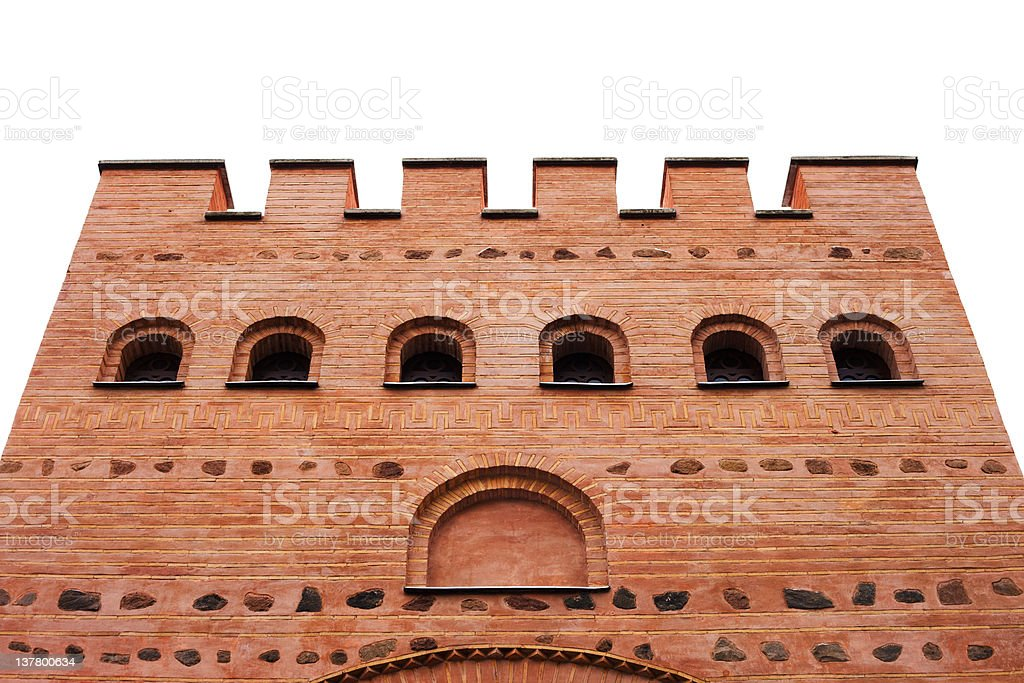 architecture details of fortress stock photo