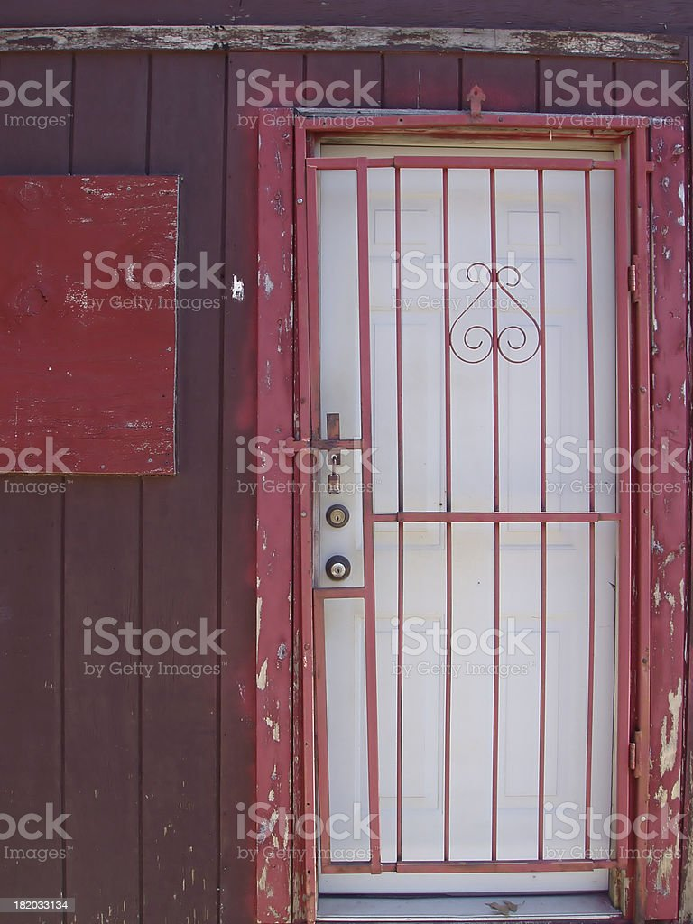 Architecture - Door - Bars stock photo