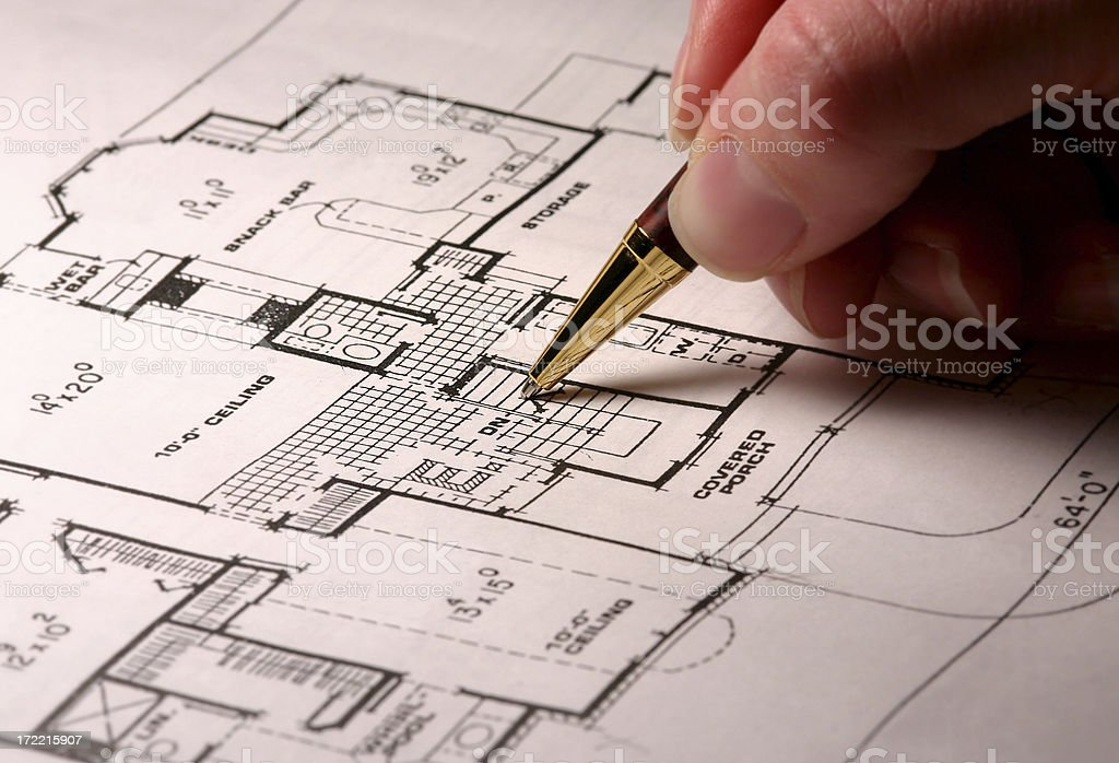Architecture Drawing royalty-free stock photo