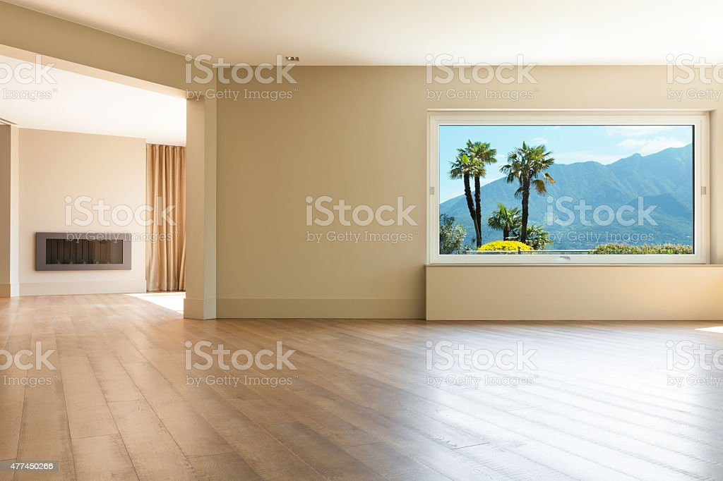 Architecture, empty living room stock photo