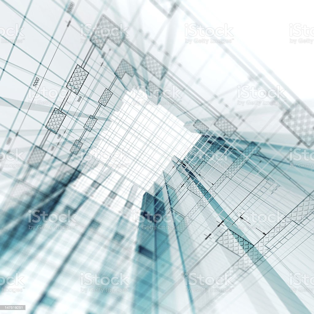 Architecture engineering royalty-free stock photo