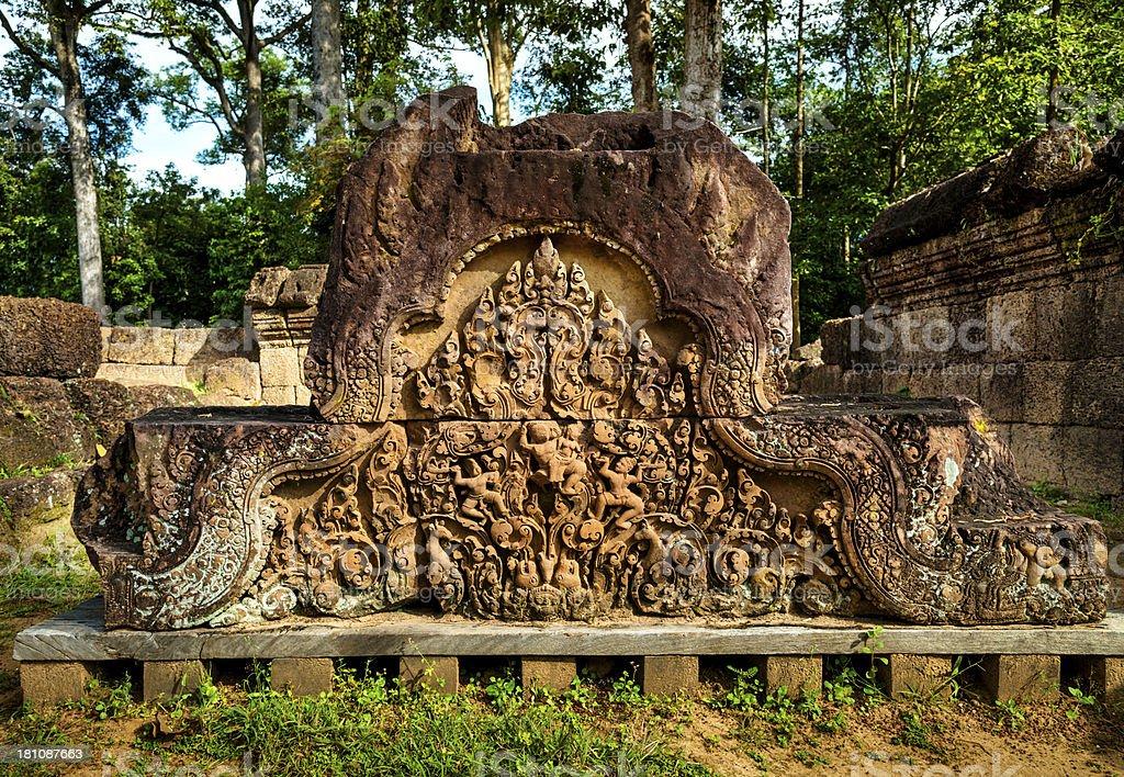 architecture fragment - Angkor Wat, Cambodia royalty-free stock photo