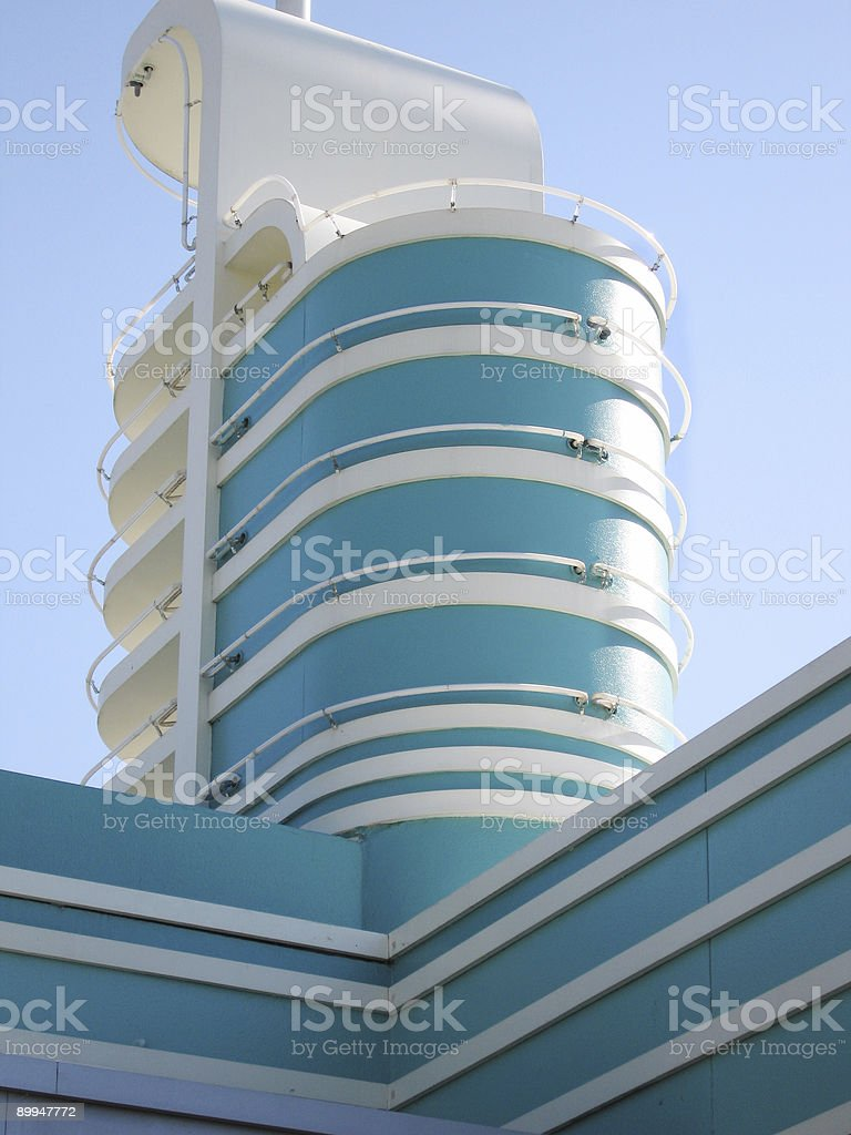 Architecture from the 50's royalty-free stock photo