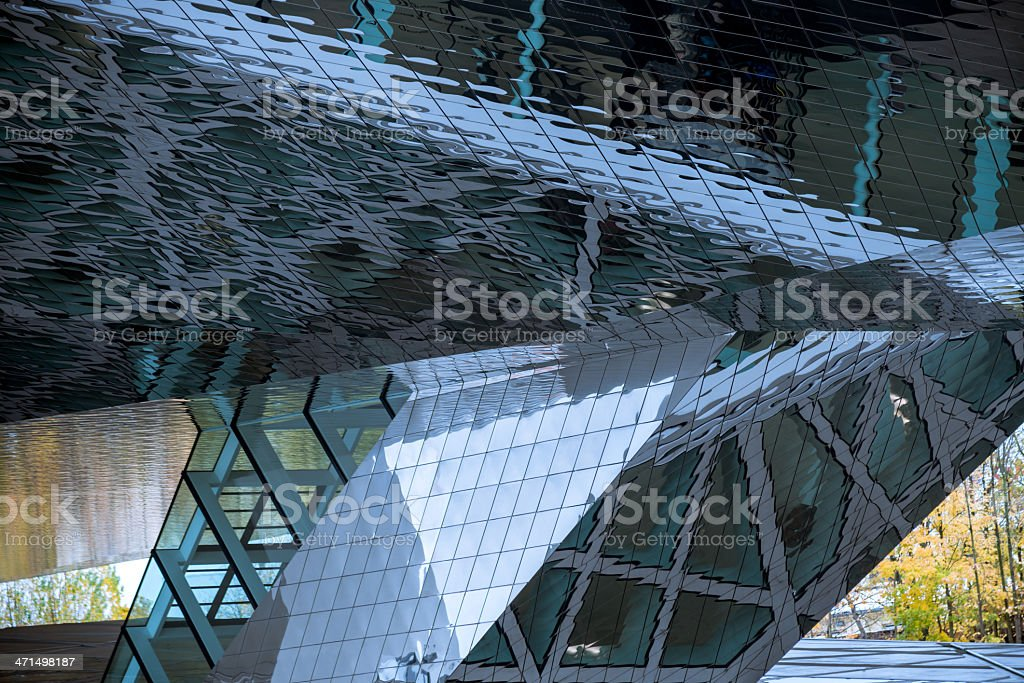 Architecture Glass Reflections royalty-free stock photo