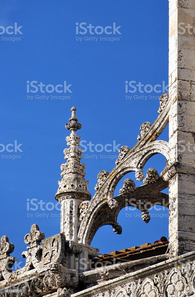 Architecture: Gothic flying buttress, Jeronimos monastery, Lisbon stock photo