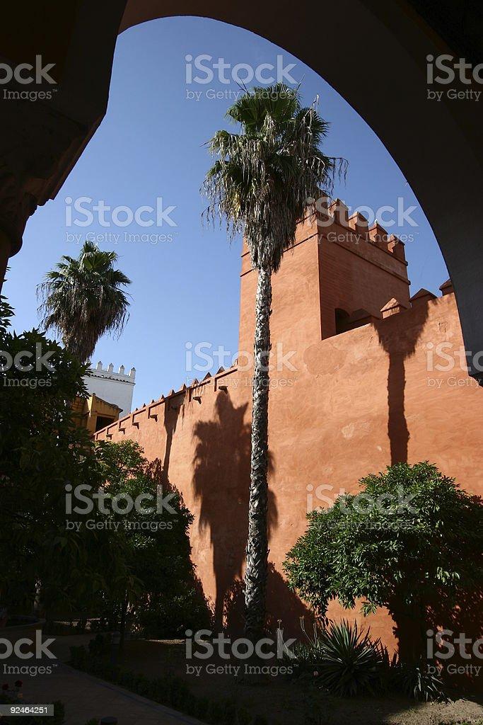 architecture in Alcazar - Sevilla Spain #2 royalty-free stock photo