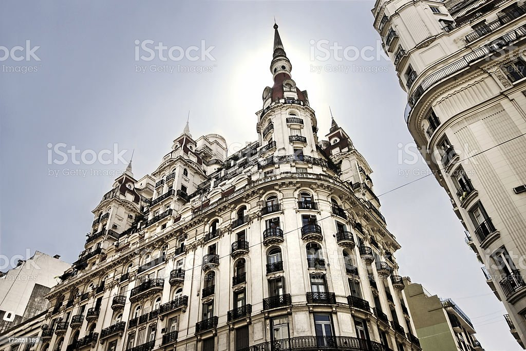 Architecture in Buenos Aires royalty-free stock photo