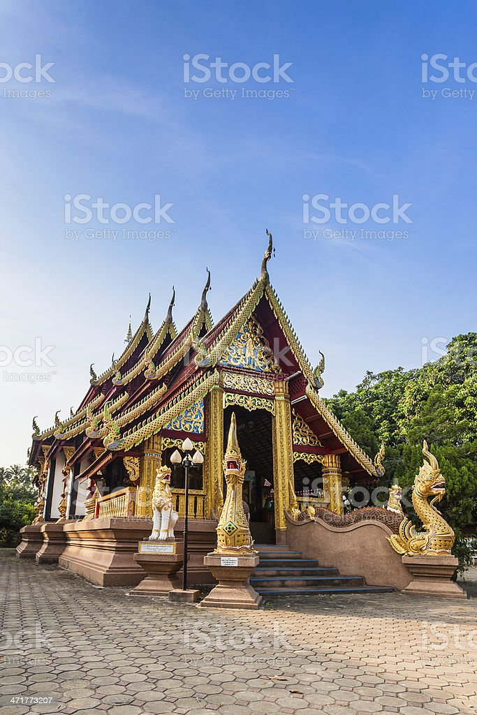 architecture in Chiang mai north Thaialnd. royalty-free stock photo