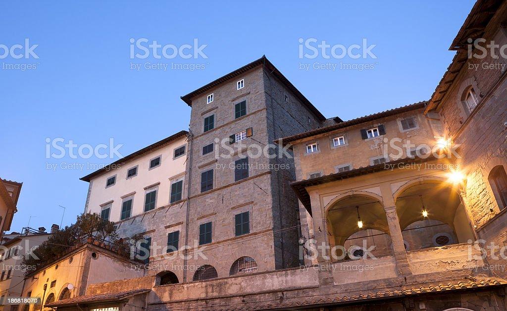Architecture in Cortona, Tuscany Italy royalty-free stock photo
