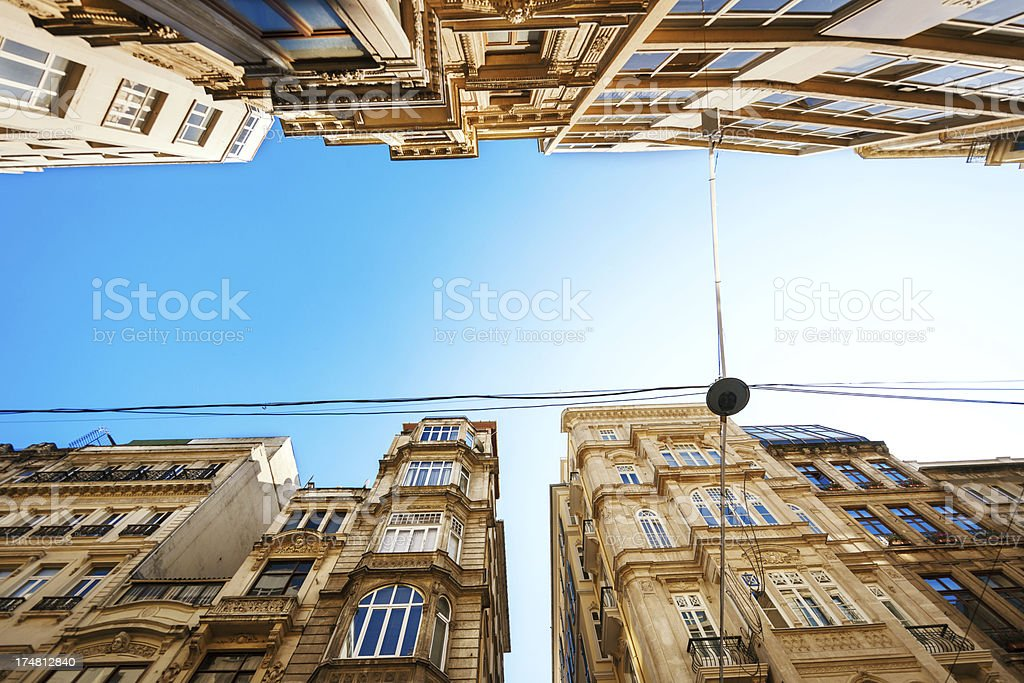 Architecture in Istanbul, Turkey royalty-free stock photo