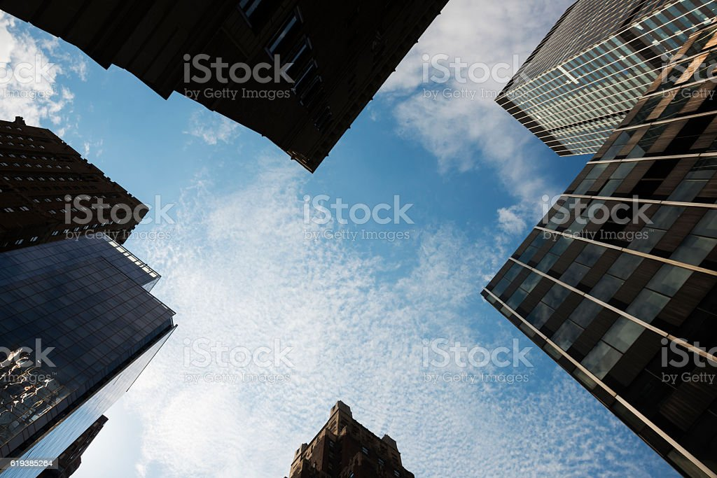 Architecture in midtown Manhattan NYC stock photo