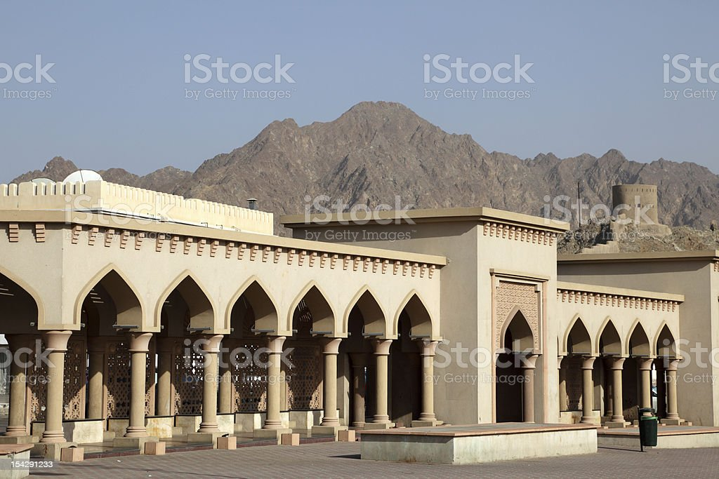 Architecture in Muscat, Oman royalty-free stock photo