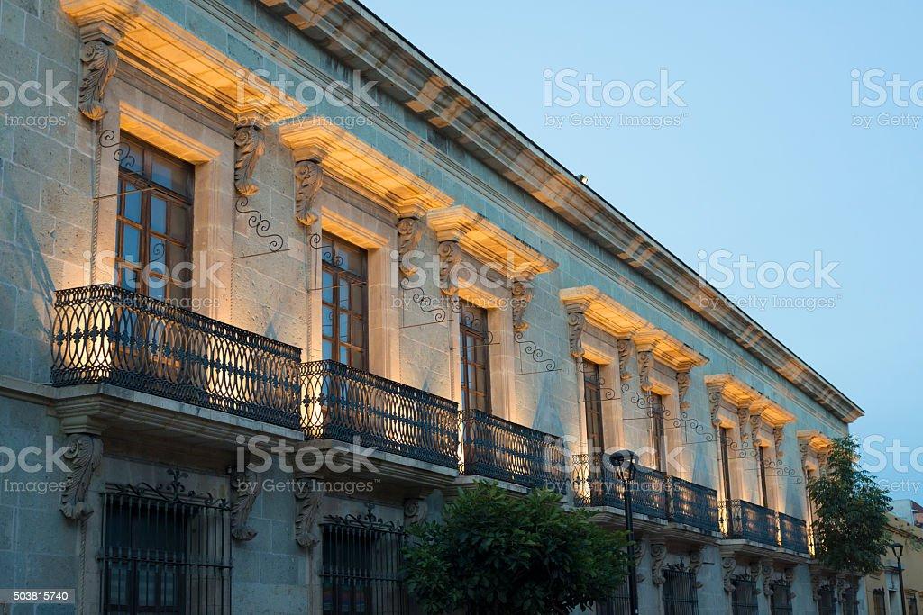 Architecture in Oaxaca, Mexico stock photo