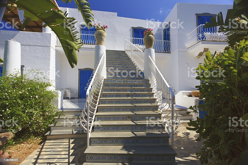 Architecture in Panarea stock photo
