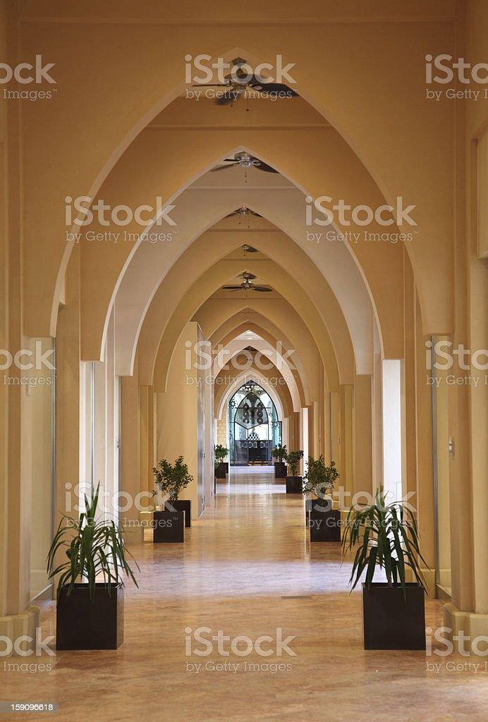 Architecture in Porto Arabia, Doha royalty-free stock photo
