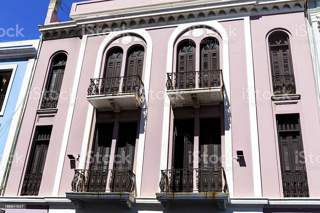 Architecture in San Juan Old City royalty-free stock photo