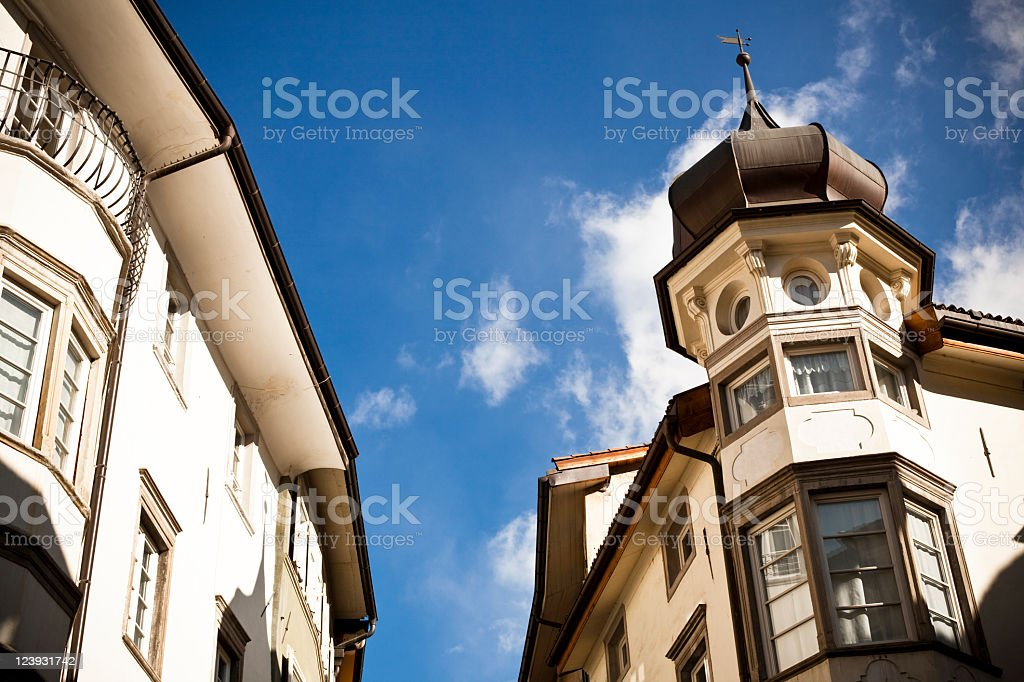 Architecture in South Tyrol royalty-free stock photo