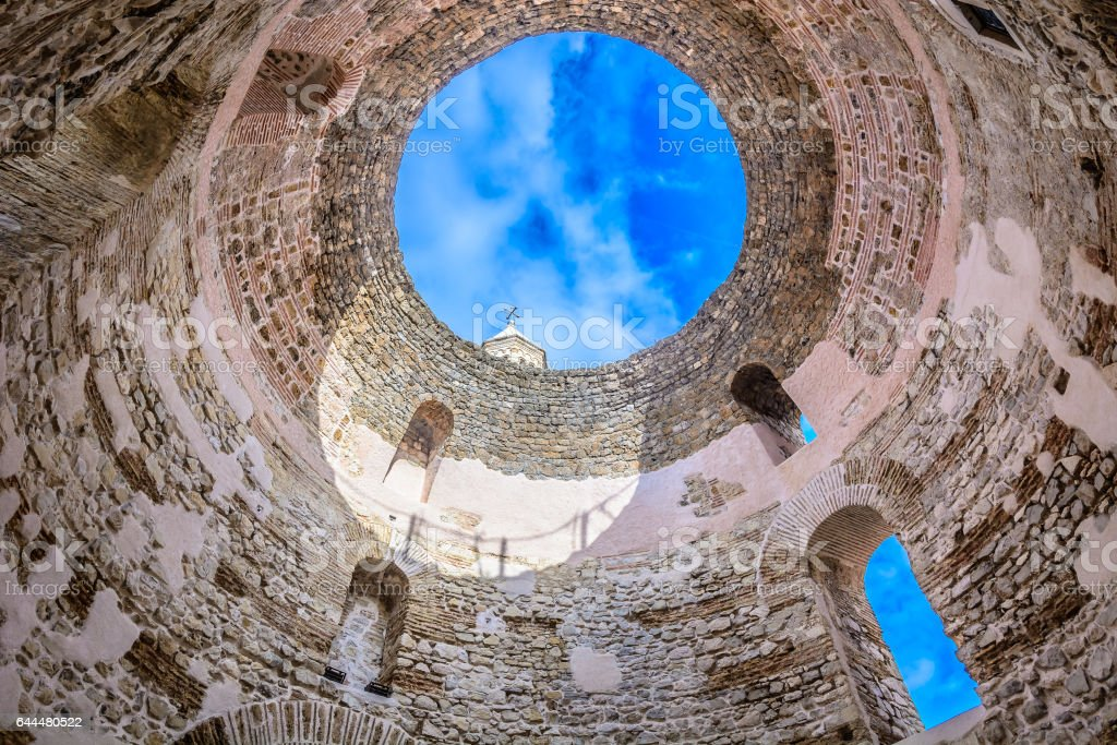 Architecture in Split Croatia. stock photo