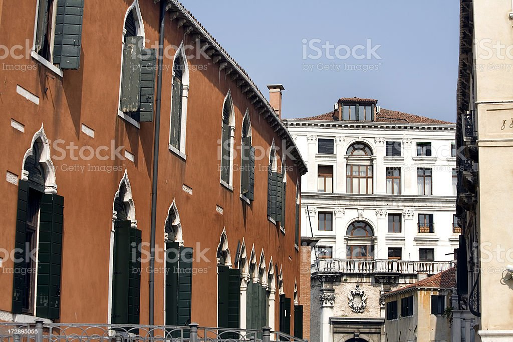 Architecture in Venice Italy royalty-free stock photo