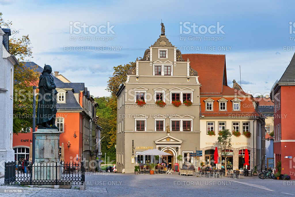 Architecture in Weimar, Germany stock photo