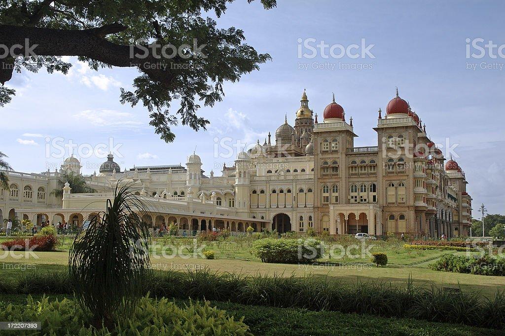 Architecture : India Amba Vilas Palace Mysore royalty-free stock photo