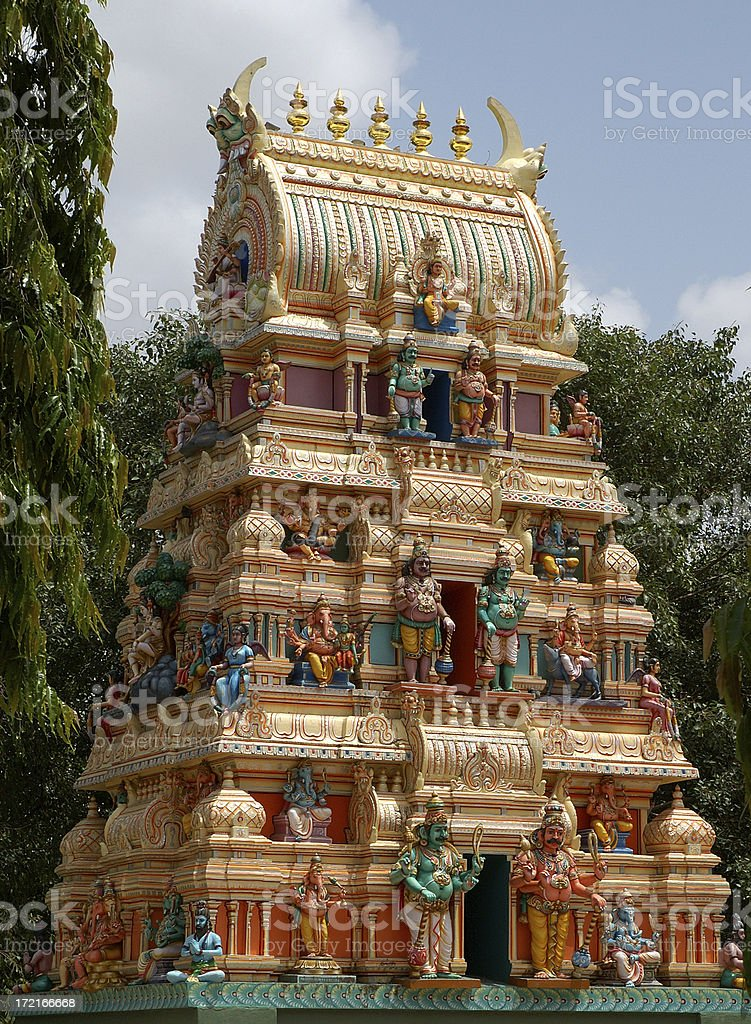 Architecture : India Cow Temple Rooftop royalty-free stock photo