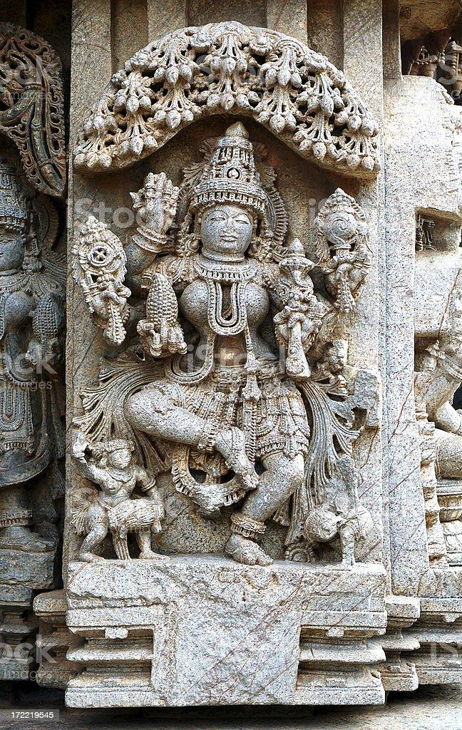 Architecture : India Hindu God Carving royalty-free stock photo