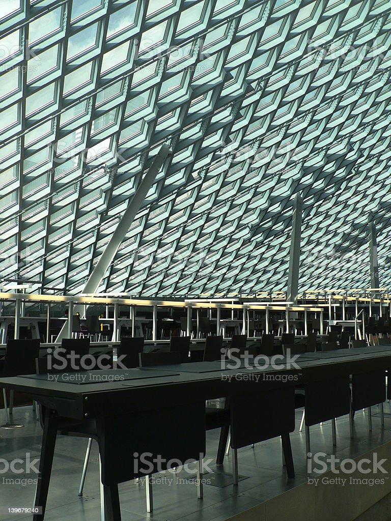 Architecture Interiors - Seattle Public Library Interior stock photo