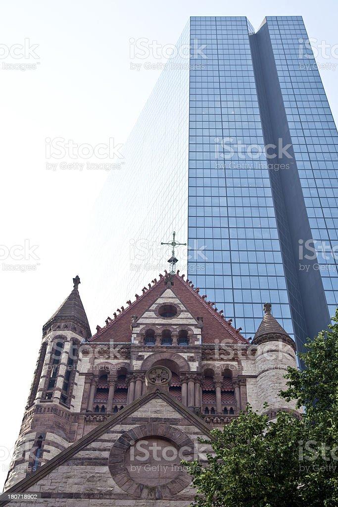 Architecture - Juxtaposition of eras royalty-free stock photo
