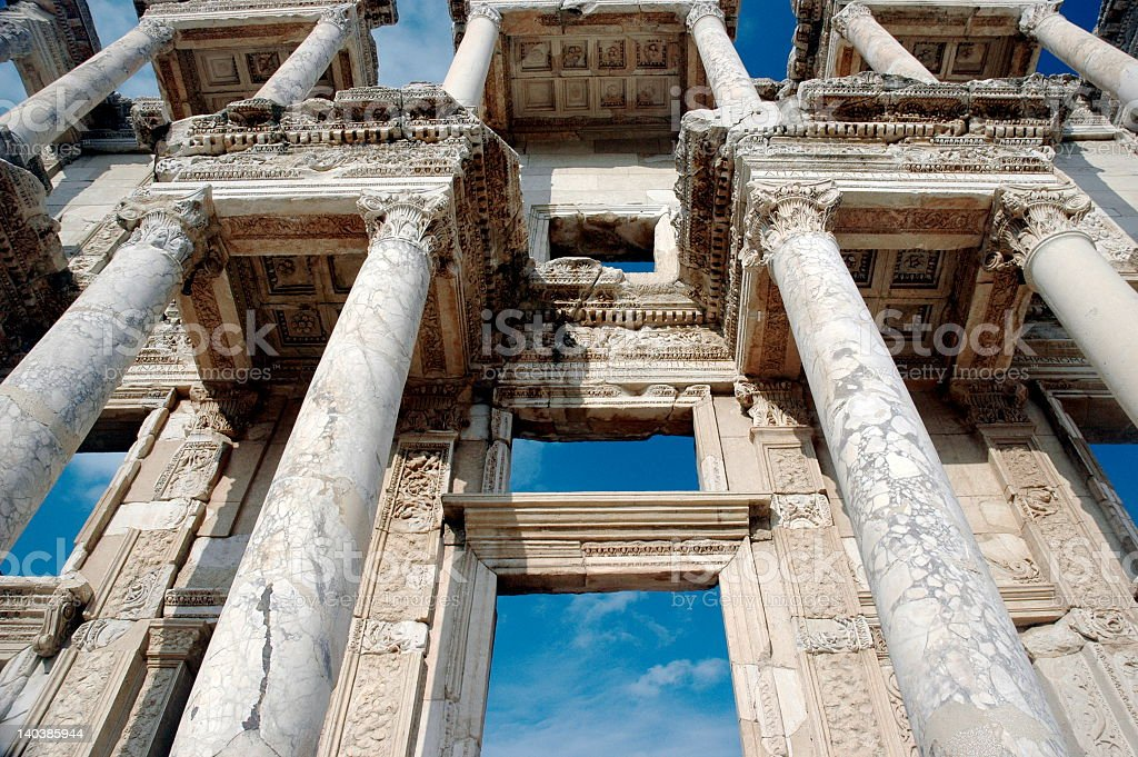 Architecture Library at Ephesus royalty-free stock photo