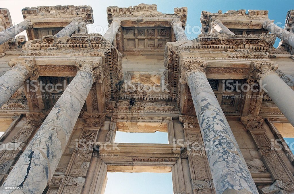 Architecture: Library of Celsus stock photo