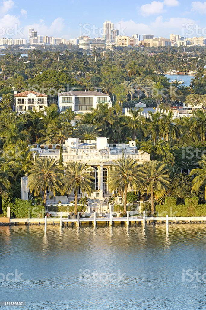 Architecture: Luxury  Mansion in Florida stock photo
