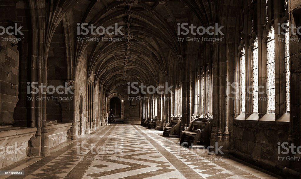 Architecture: Medieval Cloisters stock photo