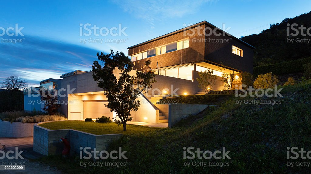 Architecture modern design, house stock photo