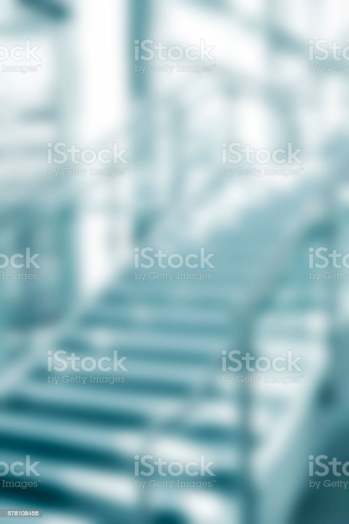 Architecture: Modern glass, aluminum staircase in office building or college. stock photo