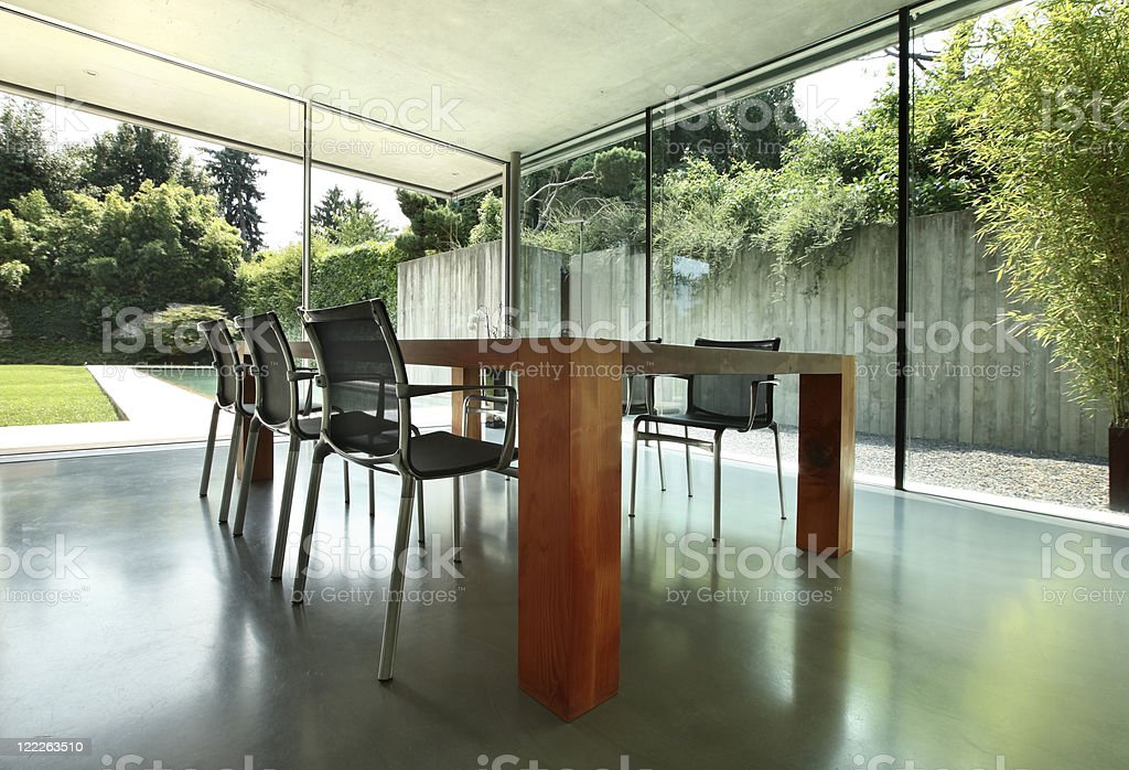 Architecture, modern house interior stock photo