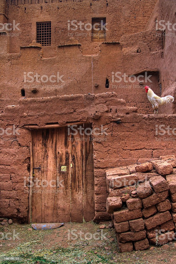 architecture of a moroccan casbah stock photo