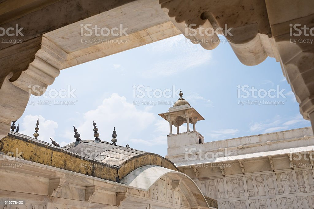 Architecture of Agra fort stock photo